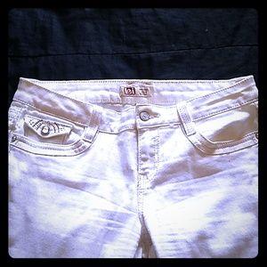 Cream color flare Jeans